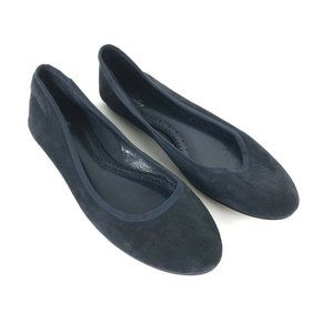 Brooks Brothers Blue Suede Ballet Flats Size 9